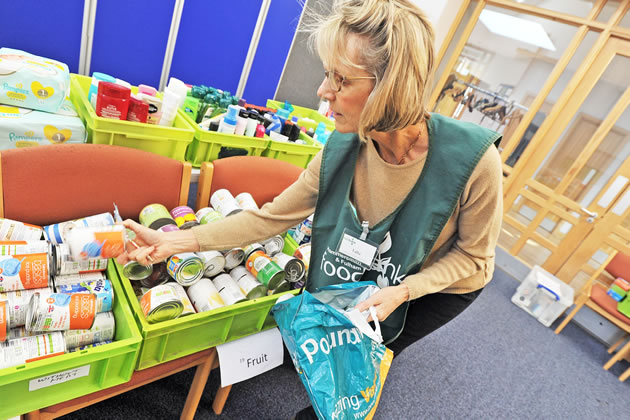 A volunteer at Hammersmith & Fulham Food Bank