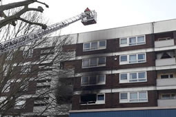 Fire Breaks Out in Block of Flats in Shepherd