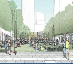 Artists impression of White City Campus south site